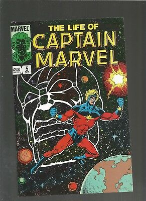 The Life of Captain Marvel #5 VF/NM (1985, Marvel) Thanos, COMBINE SHIPPING