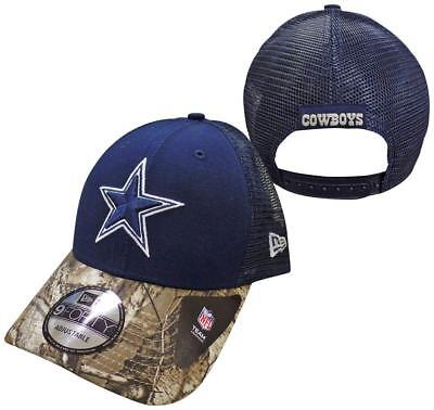 23d902f509a Dallas Cowboys Navy New Era 9FORTY Realtree Team Trucker Adjustable  Snapback Hat