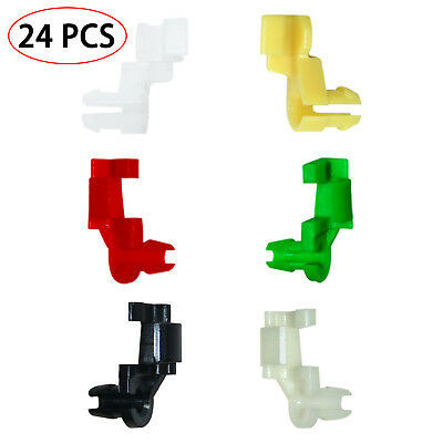 Door Lock Rod Clip 5 mm Rod Size 12 Pairs Car Clips Plastic Rivets