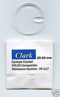 """Crystal Ref. # 25-117  117 for Rolex New  """"CLARK"""""""