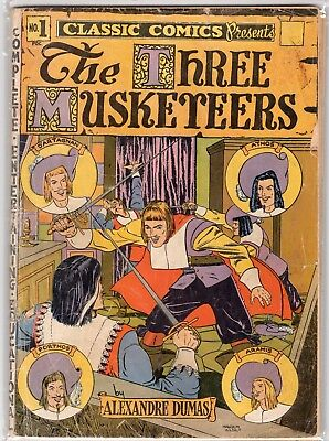Classic Comics #1, The Three Musketeers