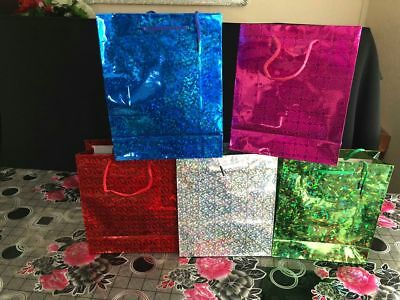 Shiny Paper Carrier Present Gift Bags Christmas Wedding Birthday H 22cm ,W 18cm