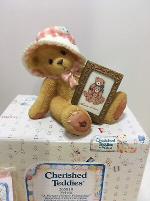 Cherished Teddies 265810 Slyvia 1996 Girl With Picture Frame Figurine 180743