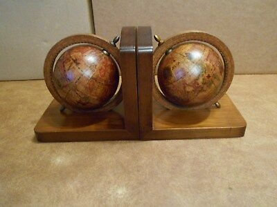 Pair Of Vintage Olde World Globe Bookends-Italy