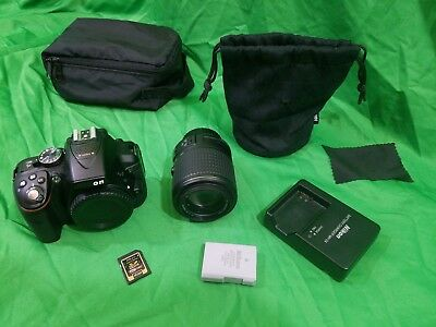 Nikon D5300 24.4 MP DSLR Camera Bundle + 18-55mm Lens + Great Condition!