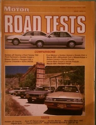 Modern Motor Road Tests Number 7 Autumn and Winter 1985, Holden, Ford, Mercedes