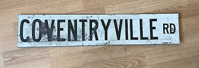 Vintage Coventryville Road Phoenixville Pa ? Metal Street Sign Double Sided 30""