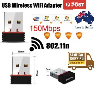 Nano USB Wireless N 802.11n Mini WiFi N Network Adaptor Dongle 150Mbps PC Laptop