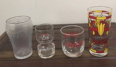 Coca Cola Glasses X 4 Collectable Coke Glasses Excellent condition
