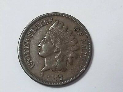 1887 Indian Head Cent Penny High Grade