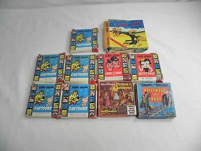 Vintage Lot of 10 8MM and Super 8MM movies and cartoons