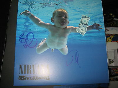 Nirvana Nevermind Vinyl Dave Grohl Butch Vig Signed Record Album Teen Spirit