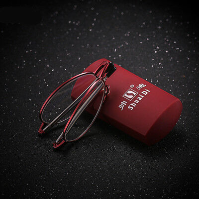 Folding Reading Glasses Stainless Steel Optical Glasses Anti-fatigue Adjustable