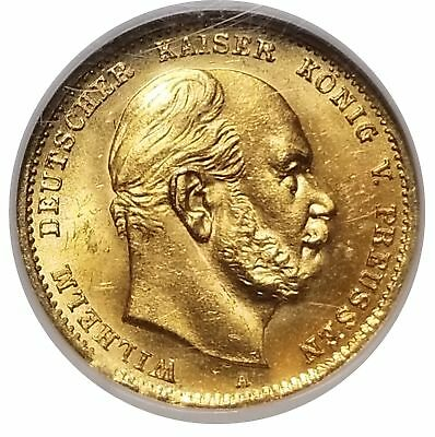 Germany Prussia 1872 A Gold 10 Mark MS 65 NGC Choice Lustrous Coin 1112-2