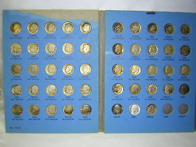 90% Silver 1946-1964 Roosevelt Dime Complete Set 90% Silver 48 Coin Baby Boomer