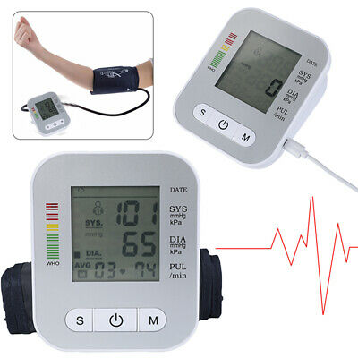 Digital Automatic Wrist Cuff Blood Pressure Monitor Heart Beat Pulse Rate Meter