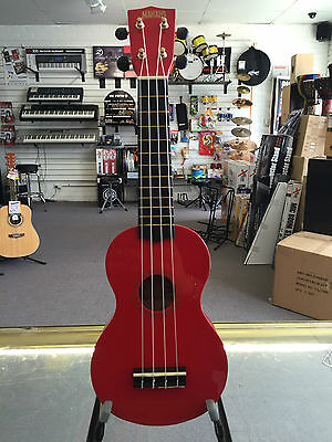 Mahalo MR1RD Rainbow Series Soprano Ukulele with Bag and Pick - Aquila Strings