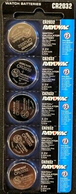 5 Pack Rayovac CR2032 3V Lithium Batteries DL2032 ECR2032 EXP 2024 USA SELLER