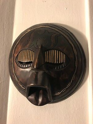 Hand Carved Wooden Tribal Mask Wall Hanging