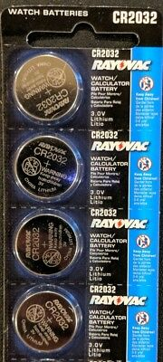 4 Pack Rayovac CR2032 3V Lithium Batteries DL2032 ECR2032 EXP 2024 USA SELLER