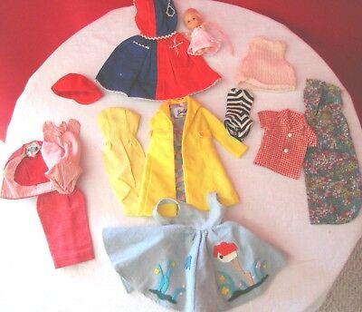 Lot of Vintage Barbie Clothing & Accessories Babysitter Bathing Suit Coat Dress