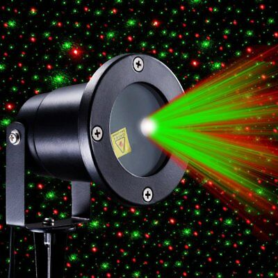 R&G Waterproof Outdoor Landscape Garden Projector Moving Laser Xmas Stage Light&