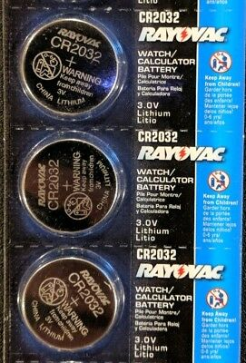 3 Pack Rayovac CR2032 3V Lithium Batteries DL2032 ECR2032 EXP 2024 USA SELLER