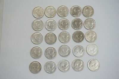 Lot 1937  2 mark German WWII Silver Coin Third Reich Reichsmark. Lot of 47 coins