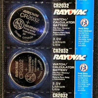 2 Pack Rayovac CR2032 3V Lithium Batteries DL2032 ECR2032 EXP 2024 USA SELLER