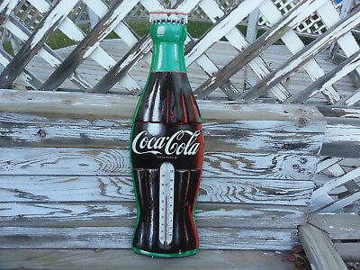"""Old Usa Made Coca-Cola / Coke 29 1/2"""" Advertising Thermometer - Nice & Working"""