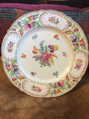 "Schumann Empress Dresden Flowers 11"" Charger Plate Us Zone Bavaria Germany"
