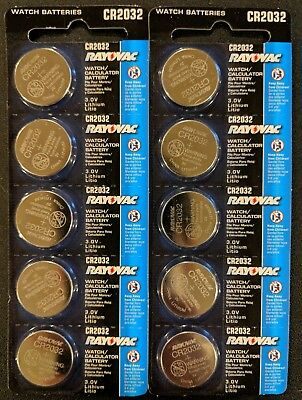 10 Pack Rayovac CR2032 3V Lithium Batteries DL2032 ECR2032 EXP 2024 USA SELLER