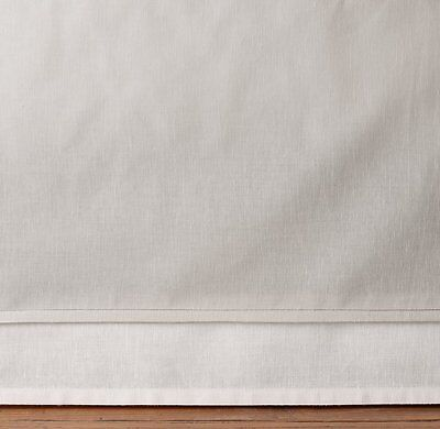 NEW Restoration Hardware Baby & Child Piped Border Baby Crib Skirt Bed Mist Red