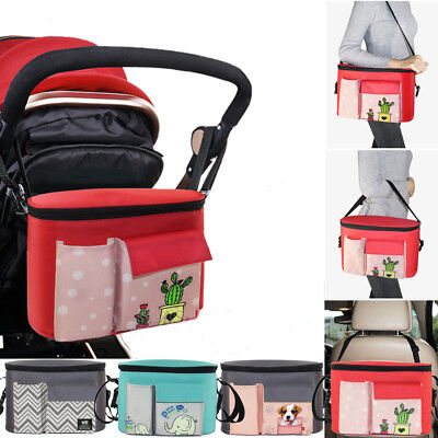 Universal Pram Baby Trolley Storage Bag Stroller Cup Bottle Holder Organiser AU