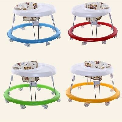 Hot Baby Walker Activity Aid Steady Toddler Seat Dinner Tray First Step Learning