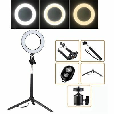 """8"""" LED SMD Ring Light Kit Set W/ Stand Dimmable 5500K for Makeup Phone Camera"""