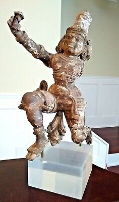 Large Antique Wooden Temple Figure - INDIA - 18th Century or Earlier