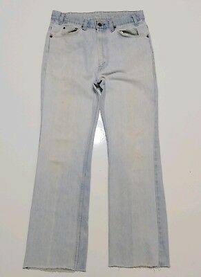 Levis 517 ORANGE TAB VINTAGE VTG USA MADE 80S 1970S TALON 42 Faded Boot Cut
