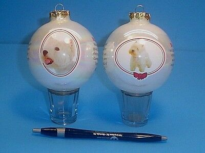 Two West Highlands White Terrier Christmas Tree Ornaments