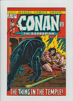 Conan The Barbarian #18 (Sept 1972, Marvel) NM- (9.2) Gil Kane Art !!!