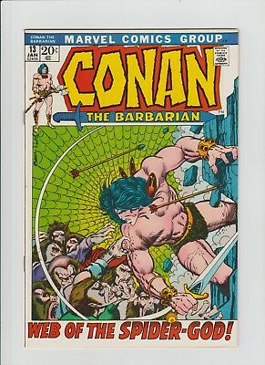 Conan The Barbarian #13 (Jan 1972, Marvel) VF+ (8.5) Barry Smith Art !!!!!