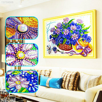 6A9A Flower Basket 30 * 40cm Diamond Embroidery Cross Stitch 5D Painting