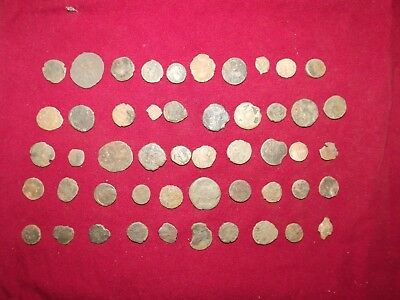 LOT OF 50 ANCIENT BRONZE ROMAN COINS Uncleaned Mid-Low Grade WWII North Africa 3