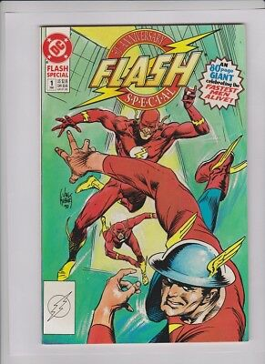 FLASH SPECIAL #1 NM-, Joe Kubert cover, Infantino, Novick, Giordano art, DC '90
