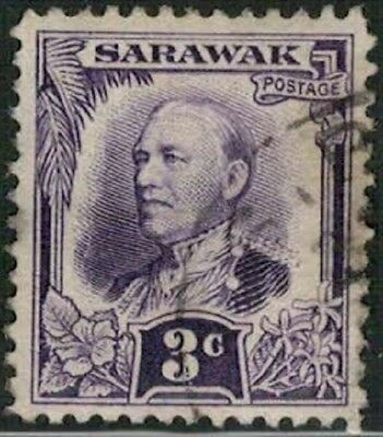 Lot 5175 - Sarawak 1932 3c violet Sir Charles Vyner Brooke used definitive stamp