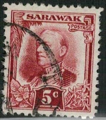 Lot 5177 - Sarawak 1932 5c red Sir Charles Vyner Brooke used definitive stamp