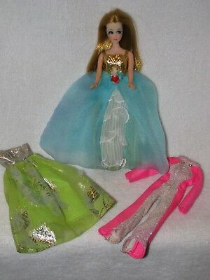 Vintage Topper Dawn Doll W/ 3 Outfits