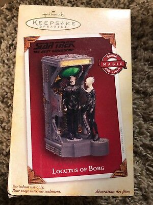 HALLMARK Keepsake STAR TREK Next Generation TNG LOCUTUS OF BORG Ornament in Box