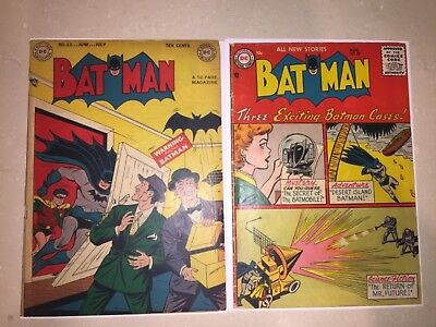 Rare Golden Age Batman #53,98 Joker Stories Complete Nice