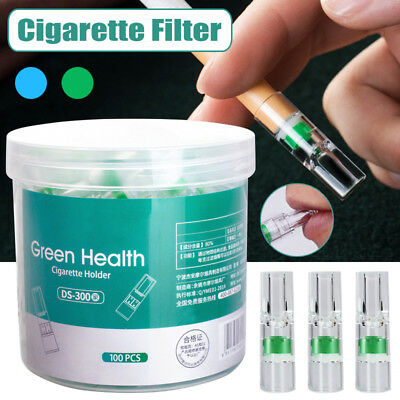 100Pcs Disposable Tobacco Cigarette Filter Holder Smoking Reduce Tar Filtration